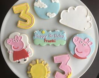 Peppa Pig Cookies Etsy
