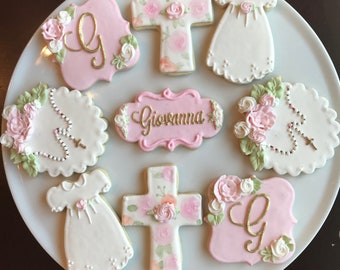Baptism or Christening Cookies / One Dozen