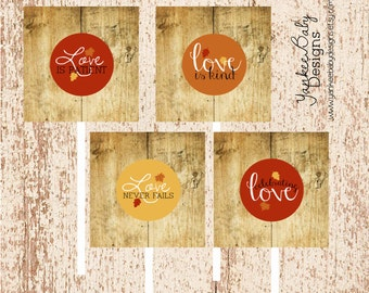 Love Is - Cupcake Toppers