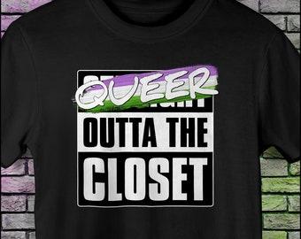 Queer Outta the Closet - Genderqueer Pride Unisex T-Shirt