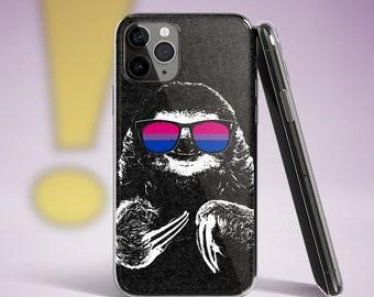 Cute Bisexual Pride Sloth iPhone Case
