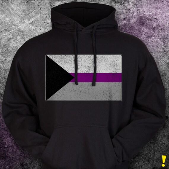 Distressed Demisexual Pride Flag Premium Hoodie