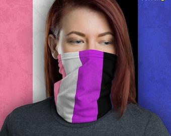 Genderfluid Pride Flag Neck Gaiter/Mask
