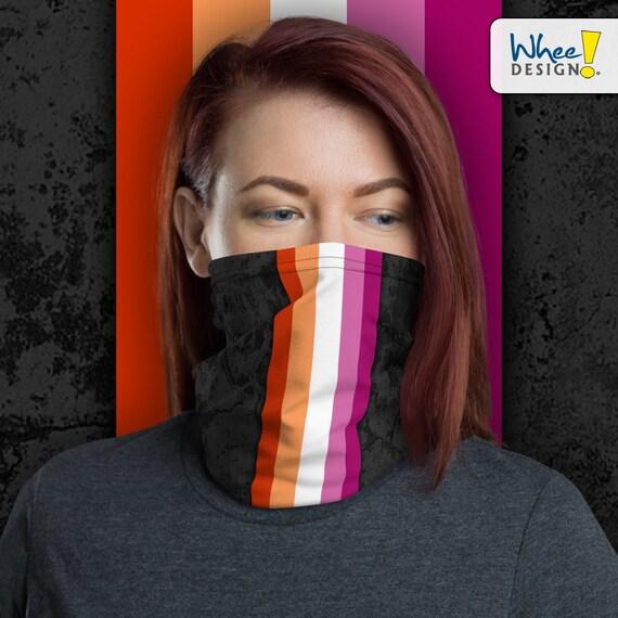 Lesbian Pride Flag Stripe Neck Gaiter/Face Mask