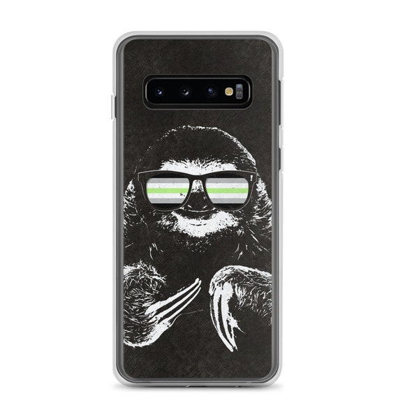 Pride Sloth Agender Flag Sunglasses Samsung Phone Case