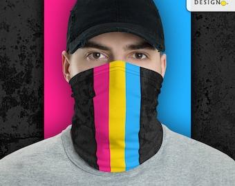 Pansexual Pride Flag Stripe Neck Gaiter/Face Mask