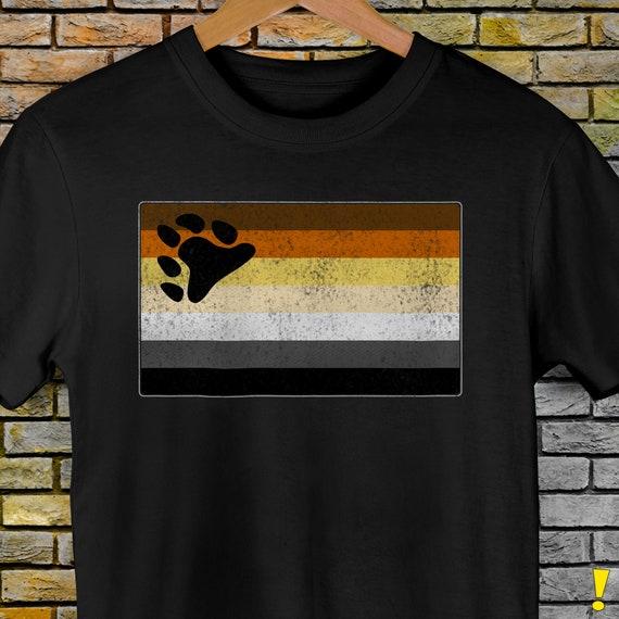 Distressed Gay Bear Pride Flag Premium Unisex T-Shirt