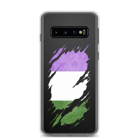 Genderqueer Pride Flag Ripped Reveal Samsung Case