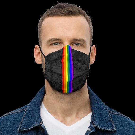 LGBTQ Pride Flag Stripe Adjustable Face Mask