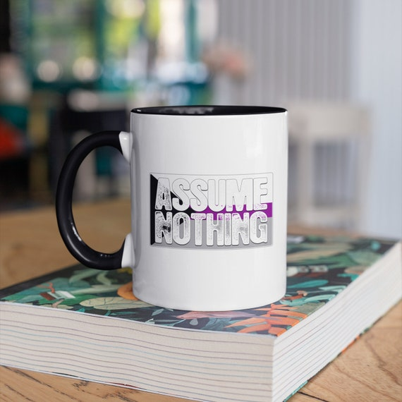Assume Nothing Demisexual Pride Flag 11oz Color Accent Mug