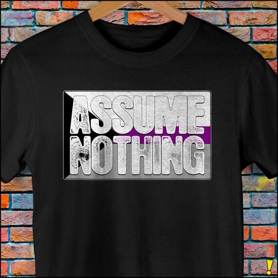Assume Nothing Demisexual Pride Flag Premium Unisex T-Shirt