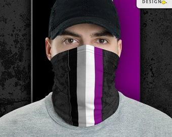 Asexual Pride Flag Stripe Neck Gaiter/Face Mask