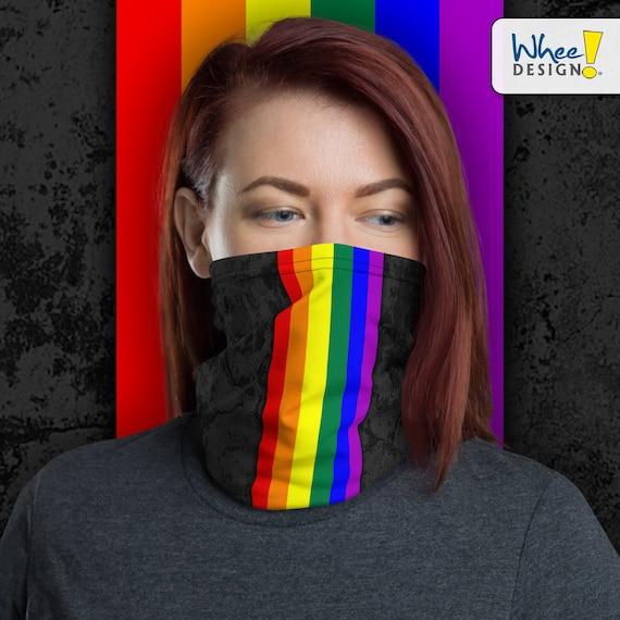 LGBTQ Pride Flag Stripe Neck Gaiter/Face Mask