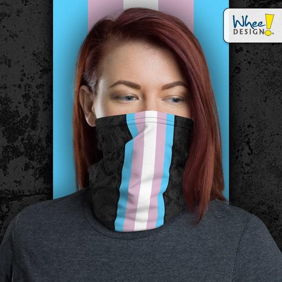 Transgender Pride Flag Stripe Neck Gaiter/Face Mask