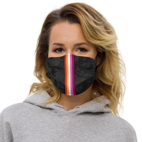 Lesbian Pride Flag Stripe Adjustable Face Mask