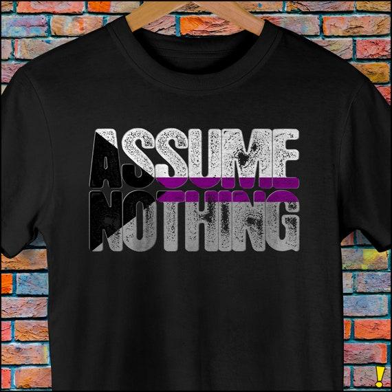 Assume Nothing Demisexual Pride Premium Unisex T-Shirt
