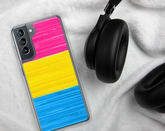 Pansexual Pride Flag Paint Strokes Samsung Case