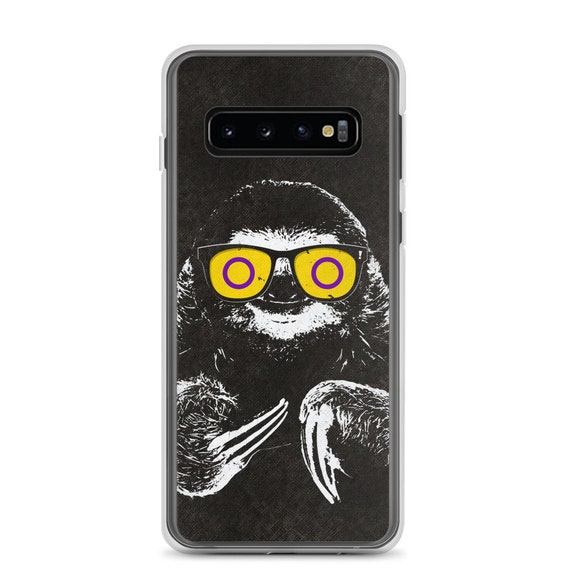 Pride Sloth Intersex Flag Sunglasses Samsung Phone Case