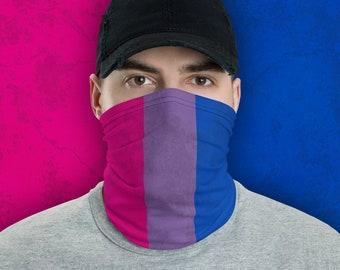 Bisexual Pride Flag Neck Gaiter/Mask