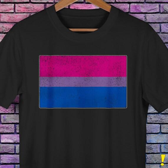 Distressed Bisexual Pride Flag Premium Unisex T-Shirt