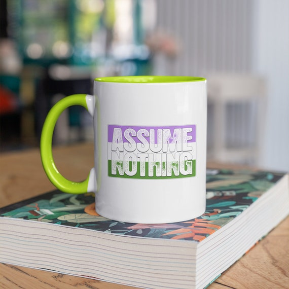 Assume Nothing Genderqueer Pride Flag 11oz Color Accent Mug
