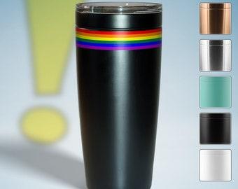LGBTQ Pride Flag Stripe 20oz Viking Travel Tumbler