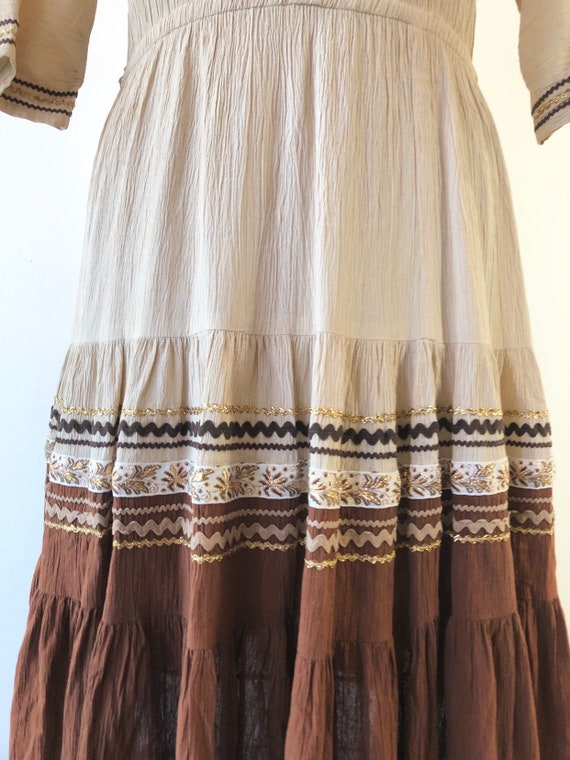 1950's Western Square Dancing Patio Dress M - image 5