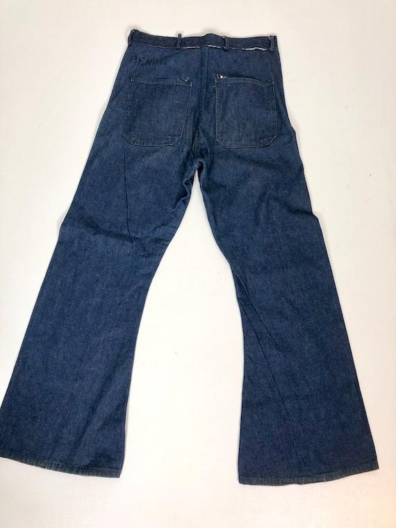 """1940s USN Naval Denim Jeans 30"""" Waist"""