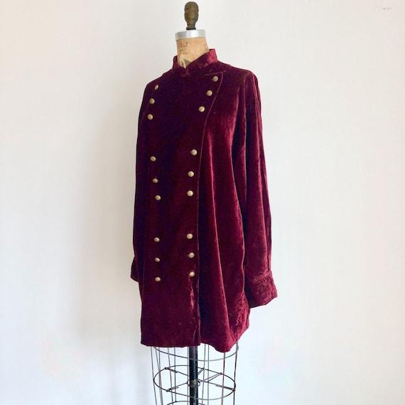 1990s Ralph Lauren Country Burgundy Velvet Jacket
