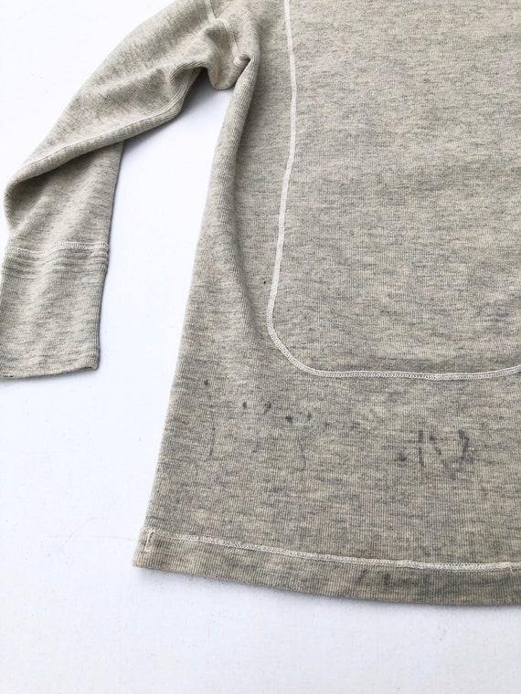 1940s Wool Knit Thermal Long Sleeve Shirt S - image 4