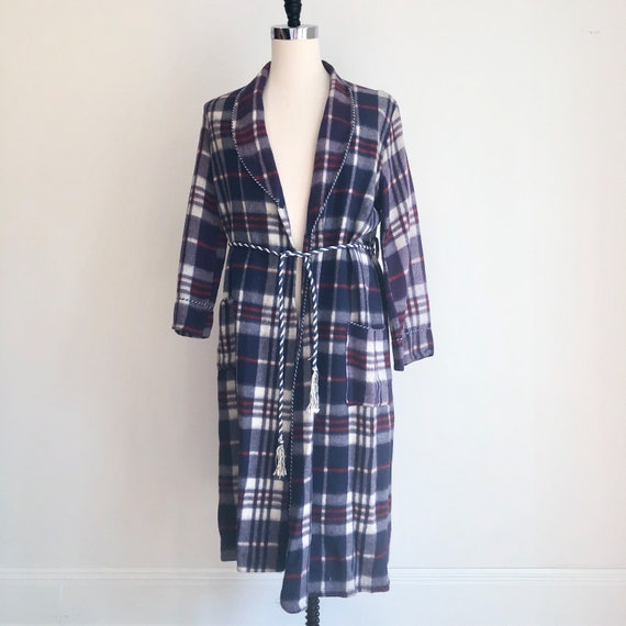 EXCELLENT 1940s Beacon Plaid Robe M