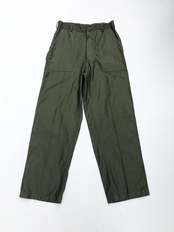 """1960s US Army OG-107 Sateen Trousers 28"""""""