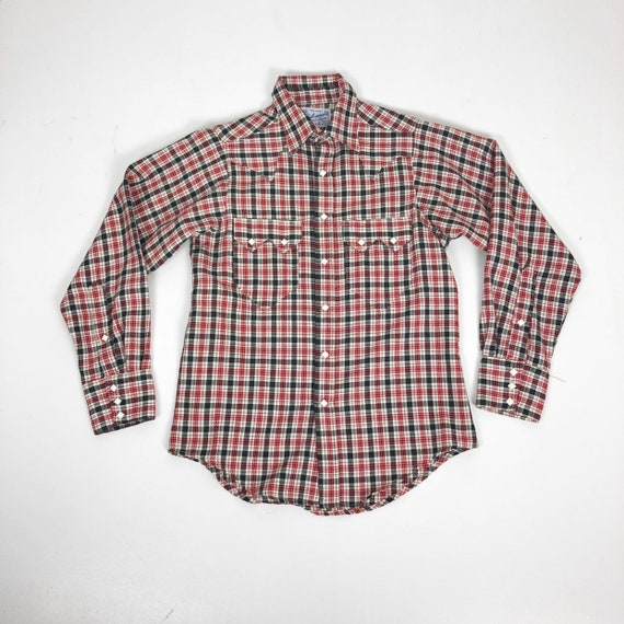 50's Rockmount Ranch Wear Plaid western Snap Shirt