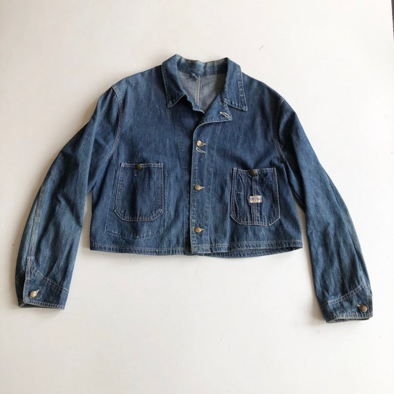 KILLER 1940s Hercules {Altered} Denim Jacket L