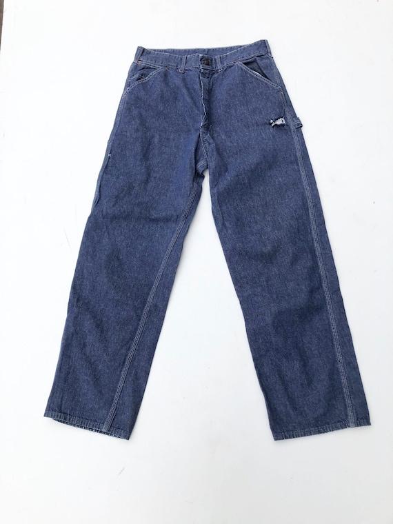 "1960s Sears Denim Carpenter Jeans 29"""