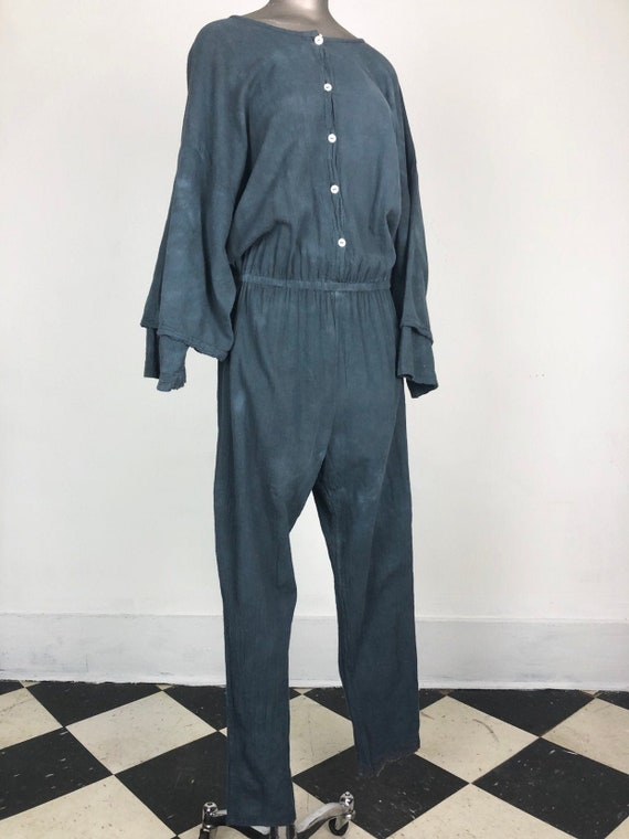KILLER 1980's Sucesos Grey Gauze Jumpsuit M L
