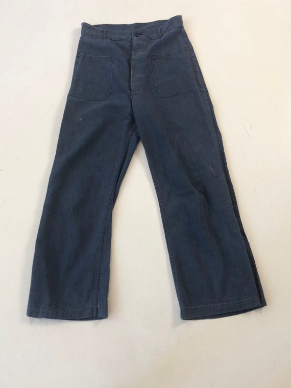 1950's Sailor High Waisted Denim Pants 29""