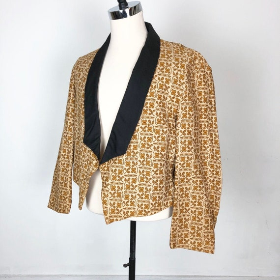 INCREDIBLE 1960s Abercrombie & Fitch Gold Tapestry