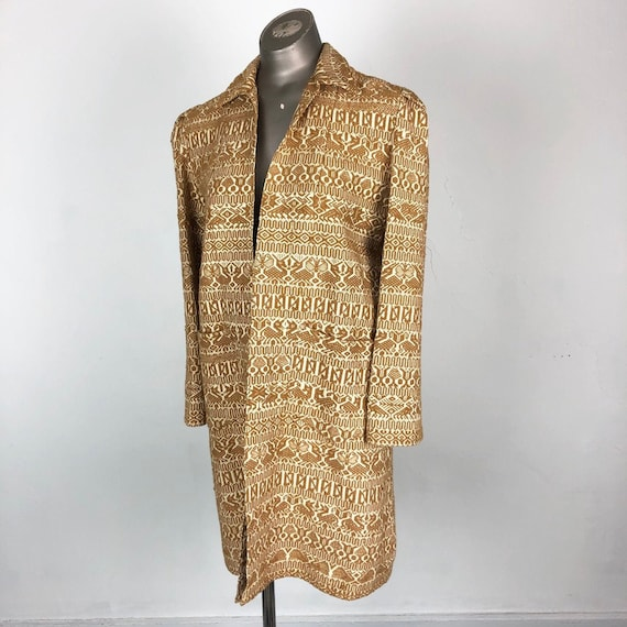 GORGEOUS 1940s Guatemalan Woven Duster S