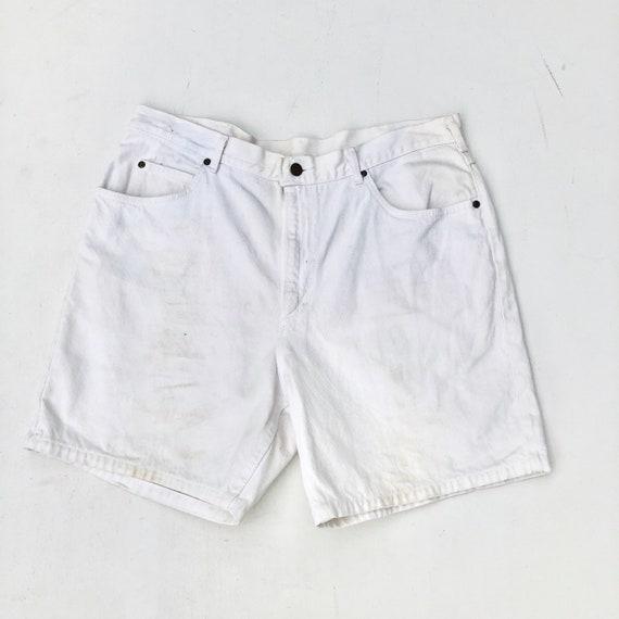 """1970s White Lee Denim Shorts 36"""""""