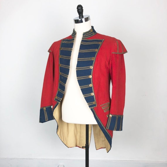INCREDIBLE Antique 1800's Red Military Band Jacket