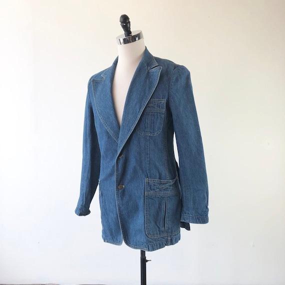 1970's Lee Denim Blazer Jacket S