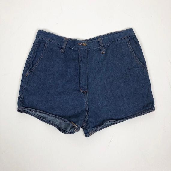 """CUTE 1970s Denim Short Shorts 30"""" Waist"""