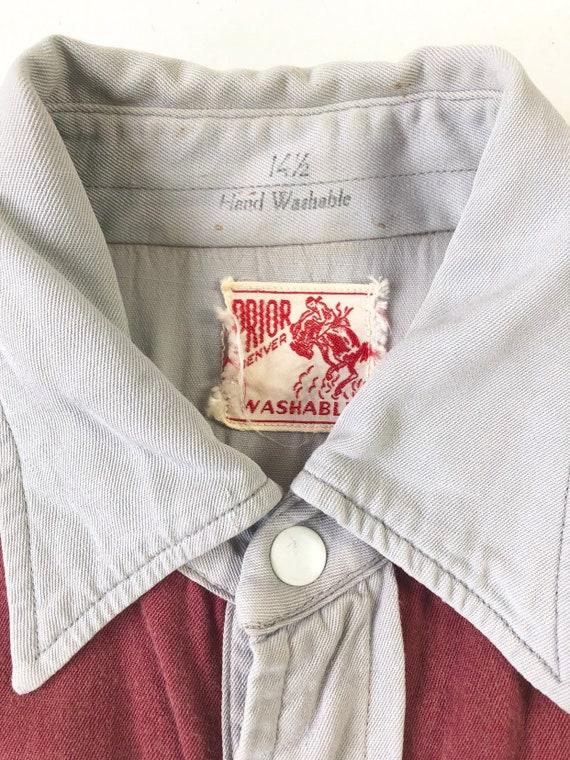 KILLER 1940's Prior Gabardine Western Shirt S - image 6