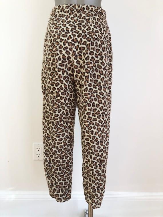 """ROCKIN 1960s Fuzzy Leopard Cigarette Pants 26"""""""