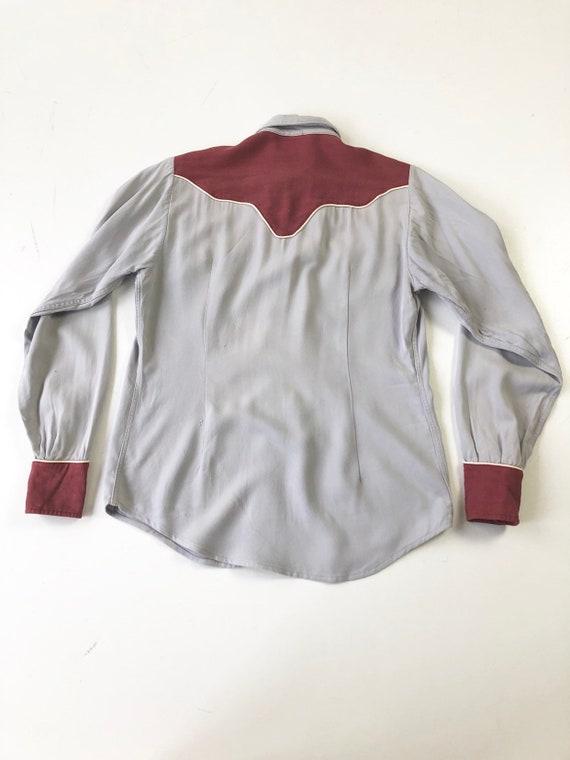 KILLER 1940's Prior Gabardine Western Shirt S - image 9