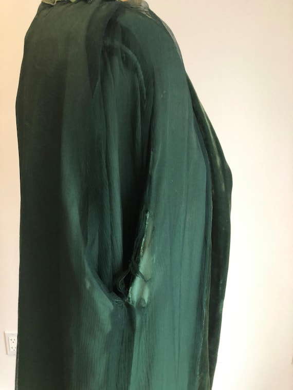 1930s Emerald Green Silk Velvet Jacket S - image 8