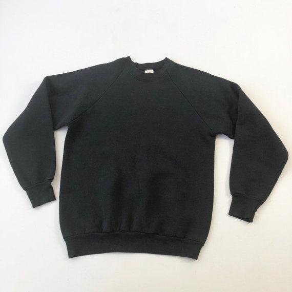 1980's Fruit of The Loom Black Sweatshirt M