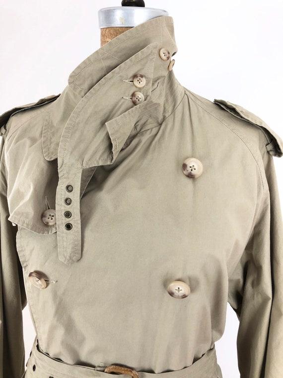 1980s Ralph Lauren Classic Khaki Trench Coat M - image 4