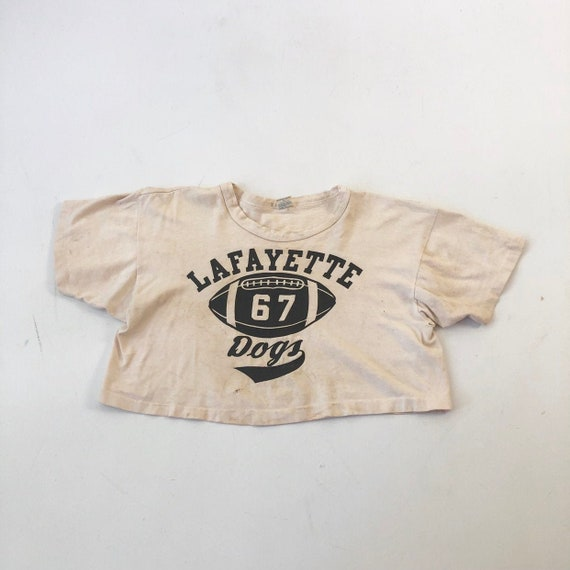 1960's Champion Lafayette Dogs Football Cropped T
